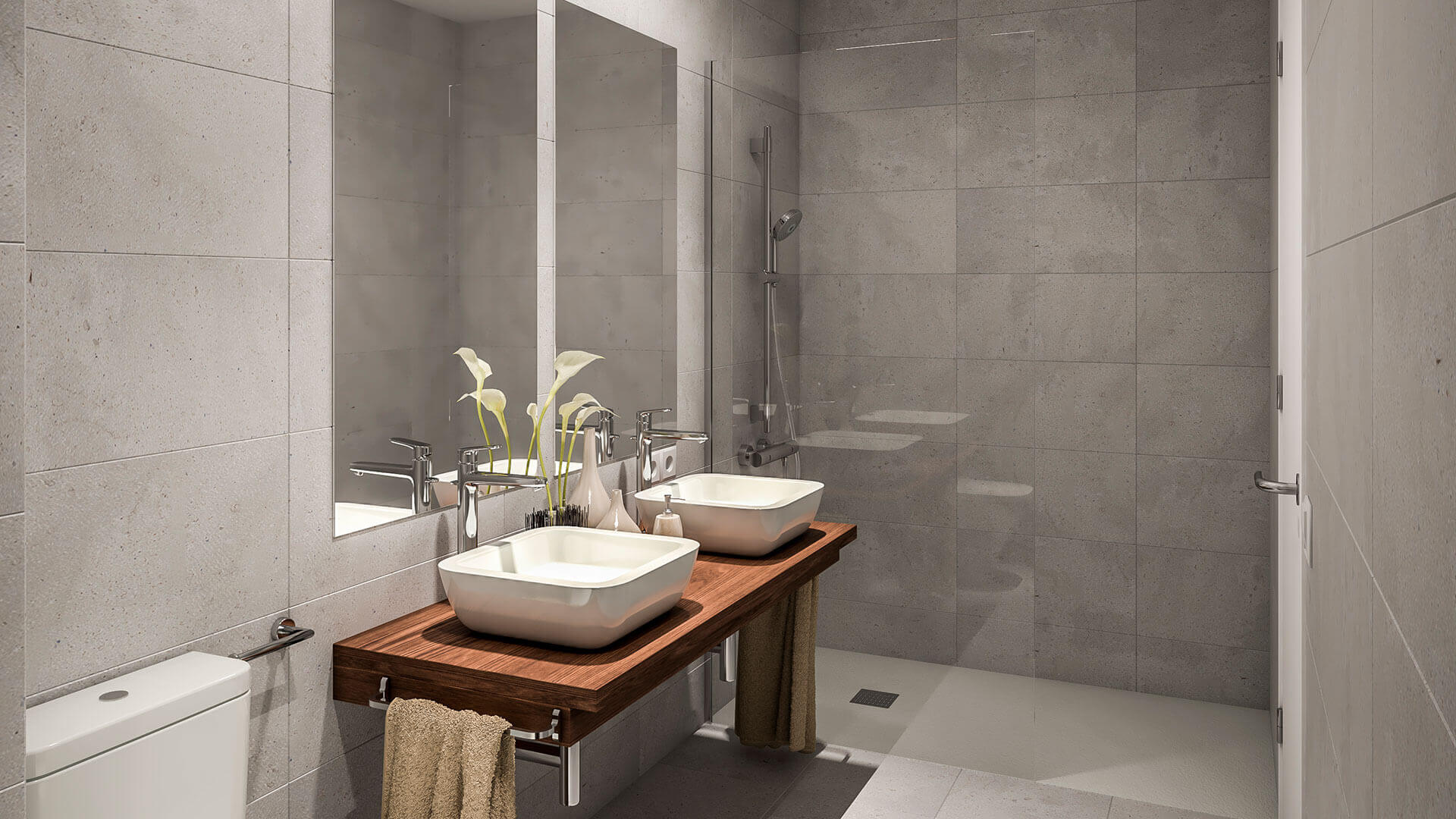 Amplio baño de excelentes calidades