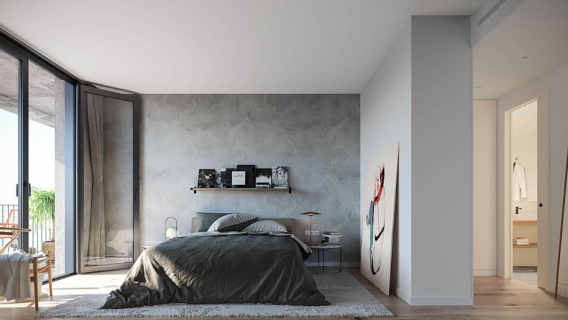Dormitorio con terraza lavabo Marina Living