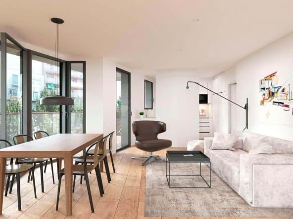 Espacioso y luminoso salón comedor con salida a terraza y cocina oculta