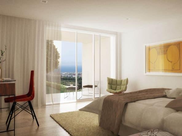 Dormitorio con terraza Turó de la Cisa